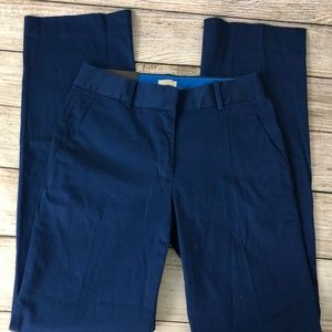 J. Crew Pants - NWT J Crew Trouser Pants 0 Fitted Stretch Blue